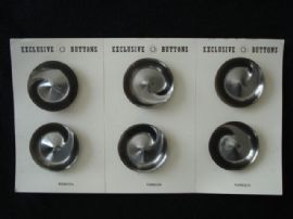 1960's/1970's Grey Lucite Swirl Buttons on Original Card